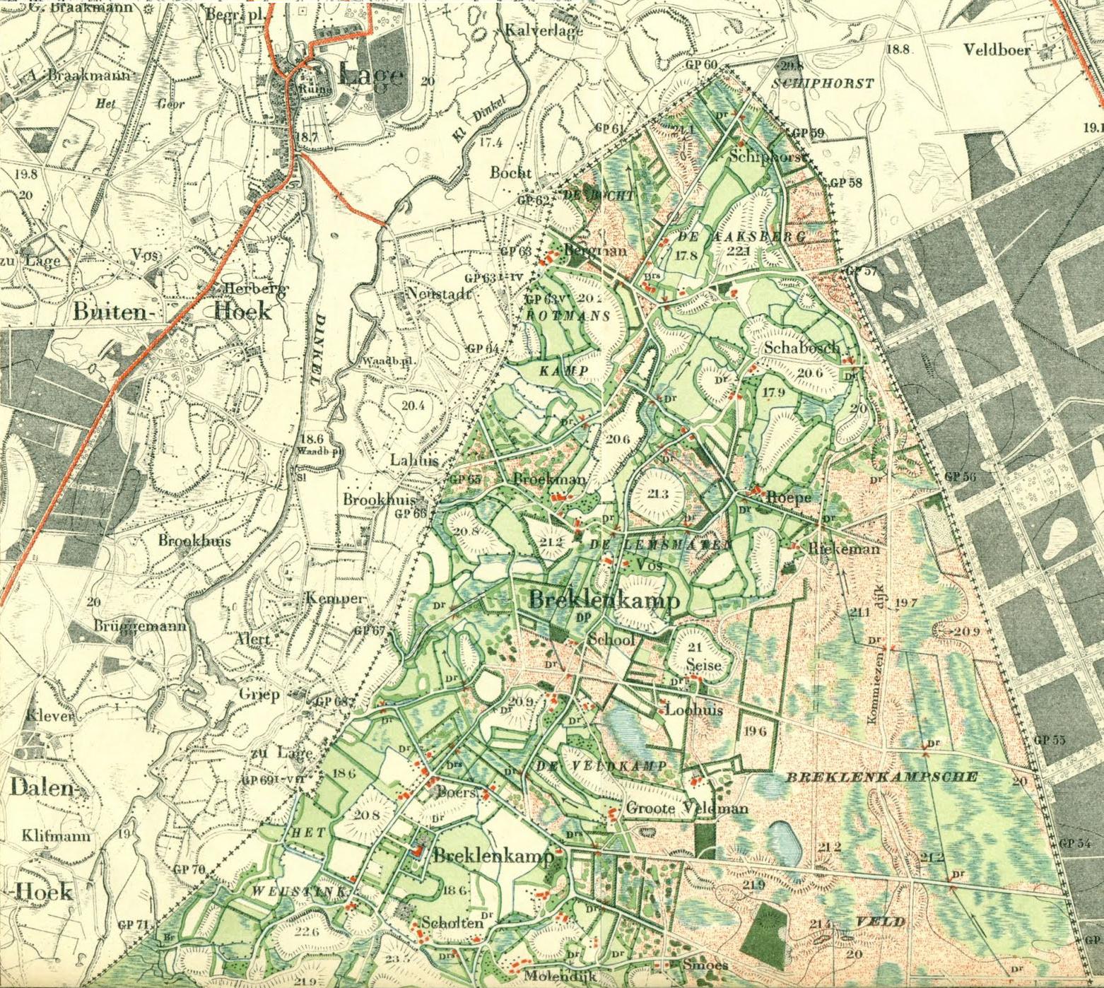 Topgrafische kaart 1901